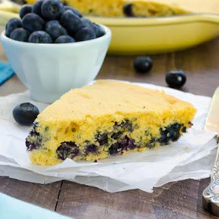 Blueberry Maple Skillet Cornbread