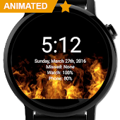 WatchFace- Live Fire Wallpaper