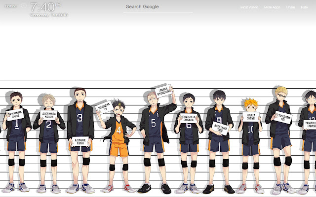 Haikyuu Wallpapers New Tab Background