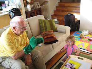 Photo: Grandpa plays alligator