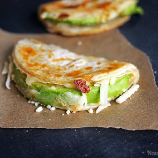 Easy Avocado and Hummus Quesadillas.