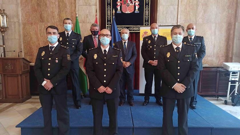Manuel de la Fuente Arias ha recibido a los cinco Inspectores Jefe.