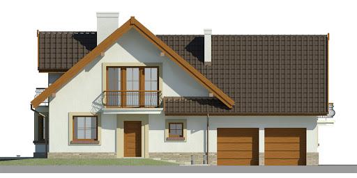 Dom przy Cyprysowej 15 K - Elewacja przednia