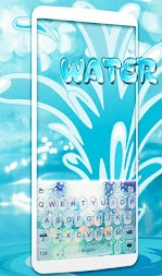 Glass Water Keyboard Theme APK screenshot thumbnail 3