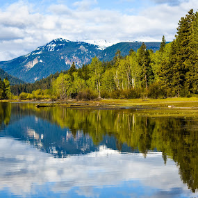 Rimrock Lake in the Cascade  by Terry Oviatt - Landscapes Mountains & Hills