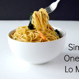 Simple One Pot Lo Mein.