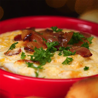 Gooey Cheesy Warm Bacon Dip Is a Perfect Game Day Treat