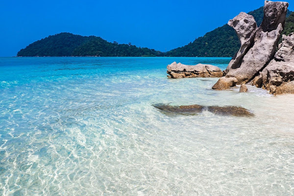 Crystal clear water at Surin Islands