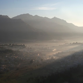 misty morning at pithoragarh by Neeraj Pant - Landscapes Sunsets & Sunrises