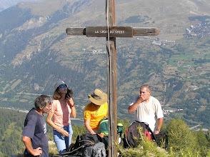 Photo: Ascension de l'aiguille d'Orcières, on se signe c'est plus sure !