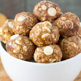 White Chocolate Cinnamon Roll Energy Bites.