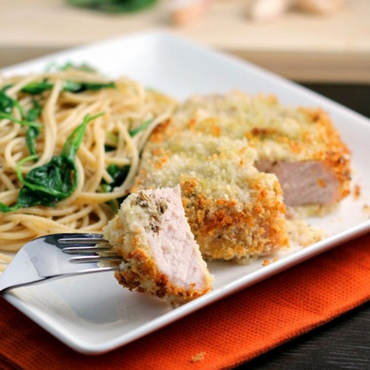 Pesto Stuffed Oven Baked Pork Chops Recipe