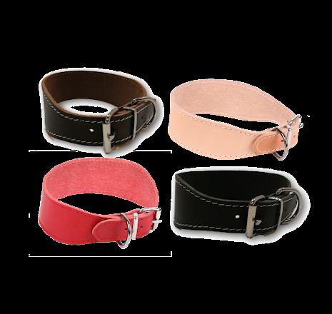 Greyhoundhalsband i läder