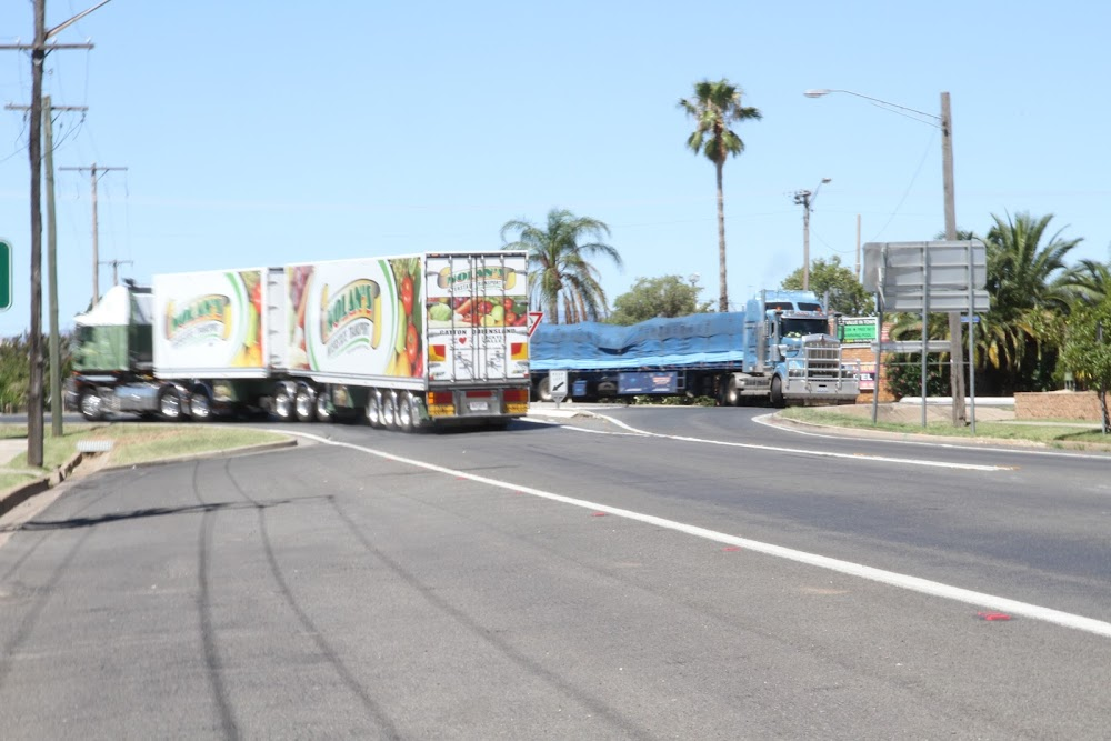 The volume of heavy truck traffic along the Newell Highway through Narrabri grows each year.