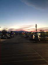 Photo: Whoa! We must have been in Walmart a while...it's getting dark.