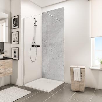 Panneaux muraux DecoDesign BRIO, pierre gris clair brillante