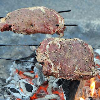 Campfire Steak on a Stick.