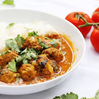 Lamb Meatball Curry with Coconut Gravy.