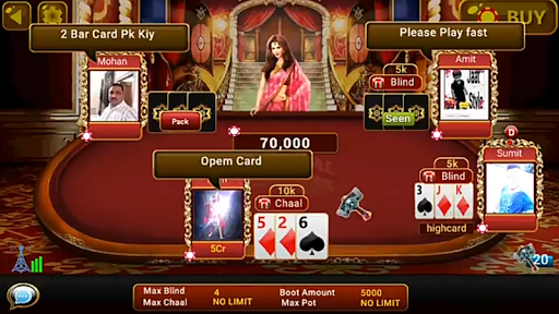 Universal Teen Patti - Indian Poker Game  captures d'écran 1