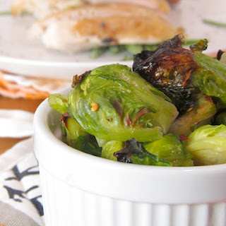 Lemon Rosemary Chicken with Roasted Brussels Sprouts