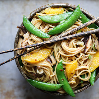 Vegetable Noodle Stir Fry with Orange.