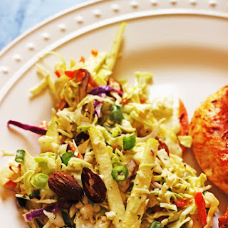 Cabbage Slaw with Apples and Almonds Recipe