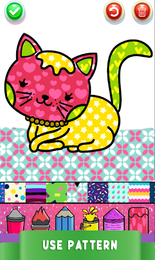 Cute Kitty Coloring Book For Kids With Glitter screenshot 13