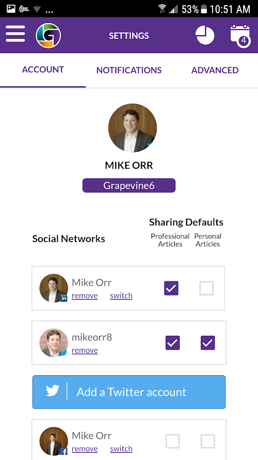 G6 - Social Selling Grapevine6- screenshot