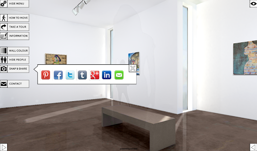 Exhibbit 3d online art gallery- screenshot thumbnail