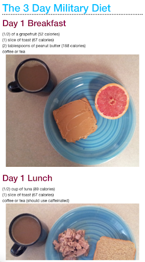 3 Day Military Diet Plan