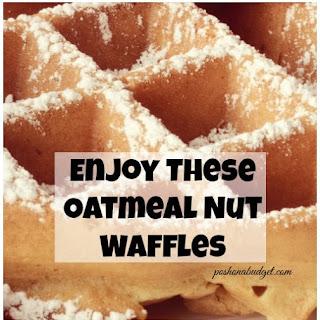 Enjoy These Oatmeal Nut Waffles #Recipe