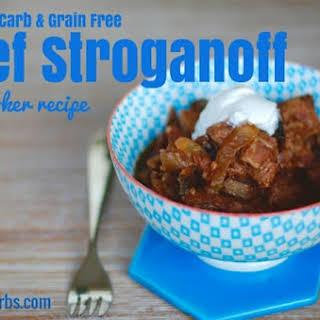Low Carb Beef Stroganoff.