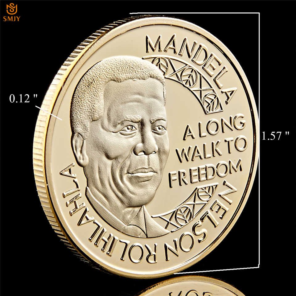 1993 President Nelson Mandela Golden Nobel Peace Prize Commemorative Coin Collection - Reasons To Collect Coins