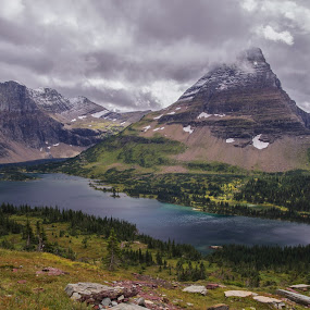 Hidden Lake by Ramsey Samara - Landscapes Mountains & Hills ( montana, logan pass, glacier national park, hidden lake, bearhat )