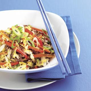 Mongolian Lamb and Vegetables.