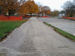 Photo: Path along north edge of small parking lot 11-5-2013