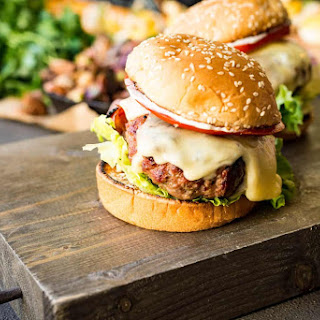 Veal Saltimbocca Burger with Sage Aioli.