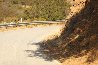 Photo: up hill corner, and resting bike