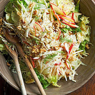 Apple, Celery Root, and Fennel Salad.