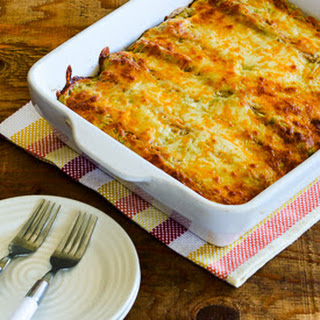 Low-Carb Green Chile Chicken Enchilada Casserole.