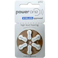 312 6-Pack VARTA PowerOne P312 - Hörapparatsbatterier
