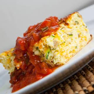 Zucchini and Green Chile Egg Breakfast Casserole.