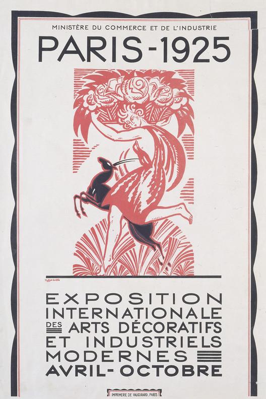 Poster konferensi l'Exposition Internationale des Arts Decoratifs Industriels et Modernes yang diadakan di Paris, Perancis - source: archdaily.com