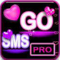 Pink Neon Heart Theme 4 GO SMS icon