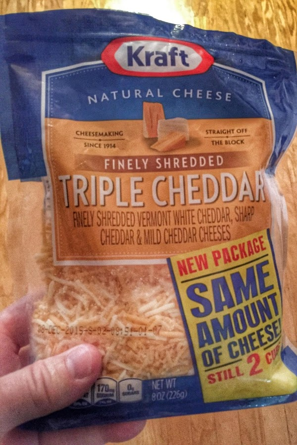 Grate the cheese, if didn't buy pre-grated