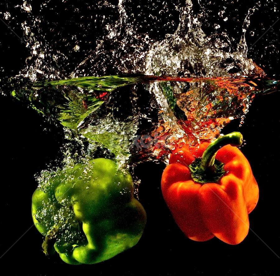 Peppers Goin' Deep by Craig Luchin - Food & Drink Fruits & Vegetables ( , Food & Beverage, meal, Eat & Drink )