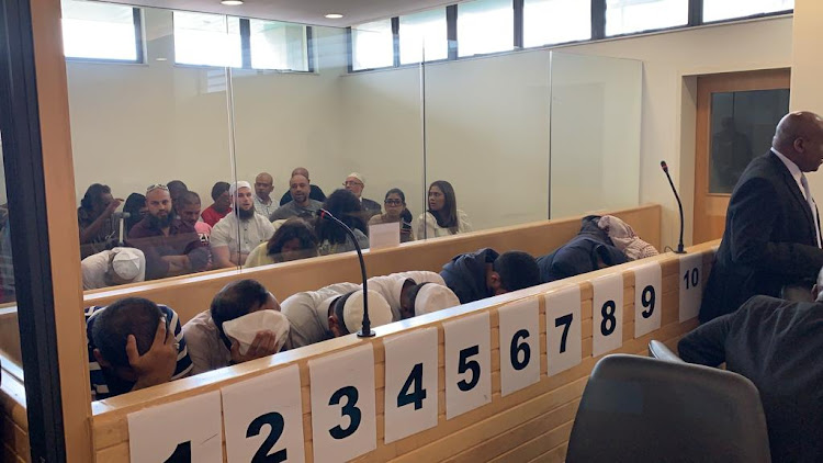 The alleged ISIS loyalists who are facing a raft of charges including murder and attempted murder appeared in the Verulam Magistrate's court on Friday, February 22