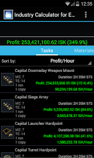 Industry Calculator for EVE- screenshot thumbnail