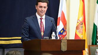 Javier Aureliano García, presidente de la Diputación Provincial en su discurso