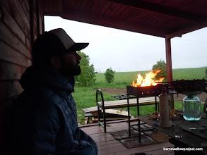 Photo: Matt, watching the rain come down